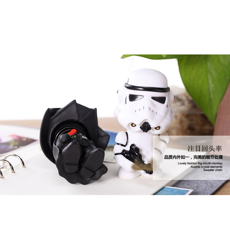 Image 3 - 11cm Star Wars Figure Action Darth Vader Action Figure Toy Bobble Head Star Wars Figures For Children Kids Toys-in Action & Toy Figures from Toys & Hobbies