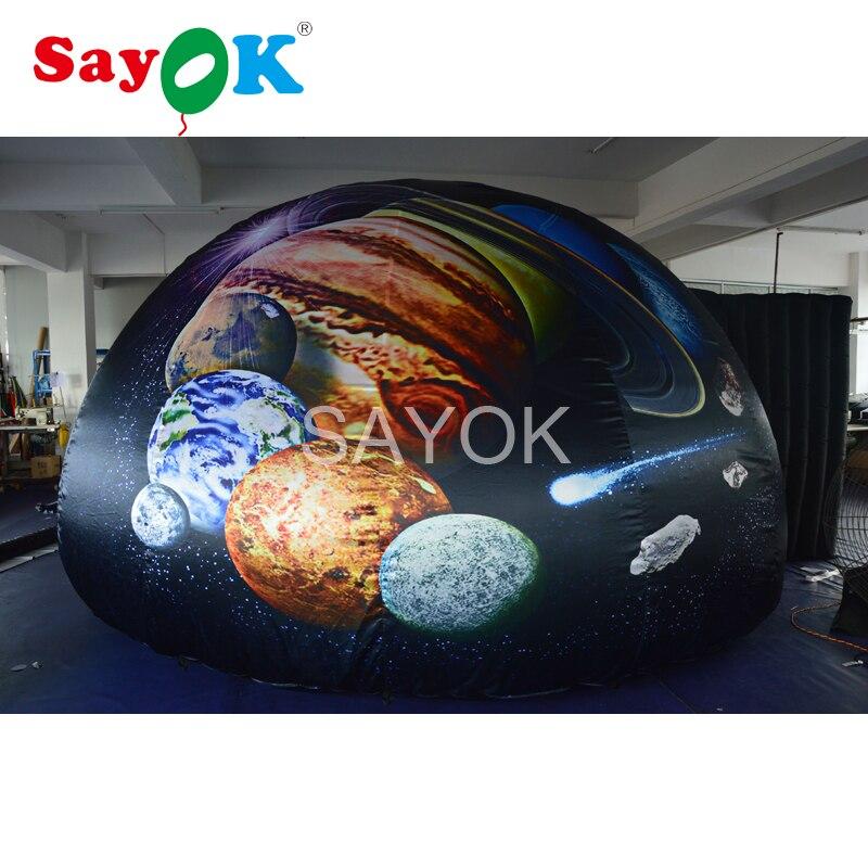 Dôme gonflable portatif de planétarium de 5 m, tente gonflable de dôme de projection avec l'impression complète