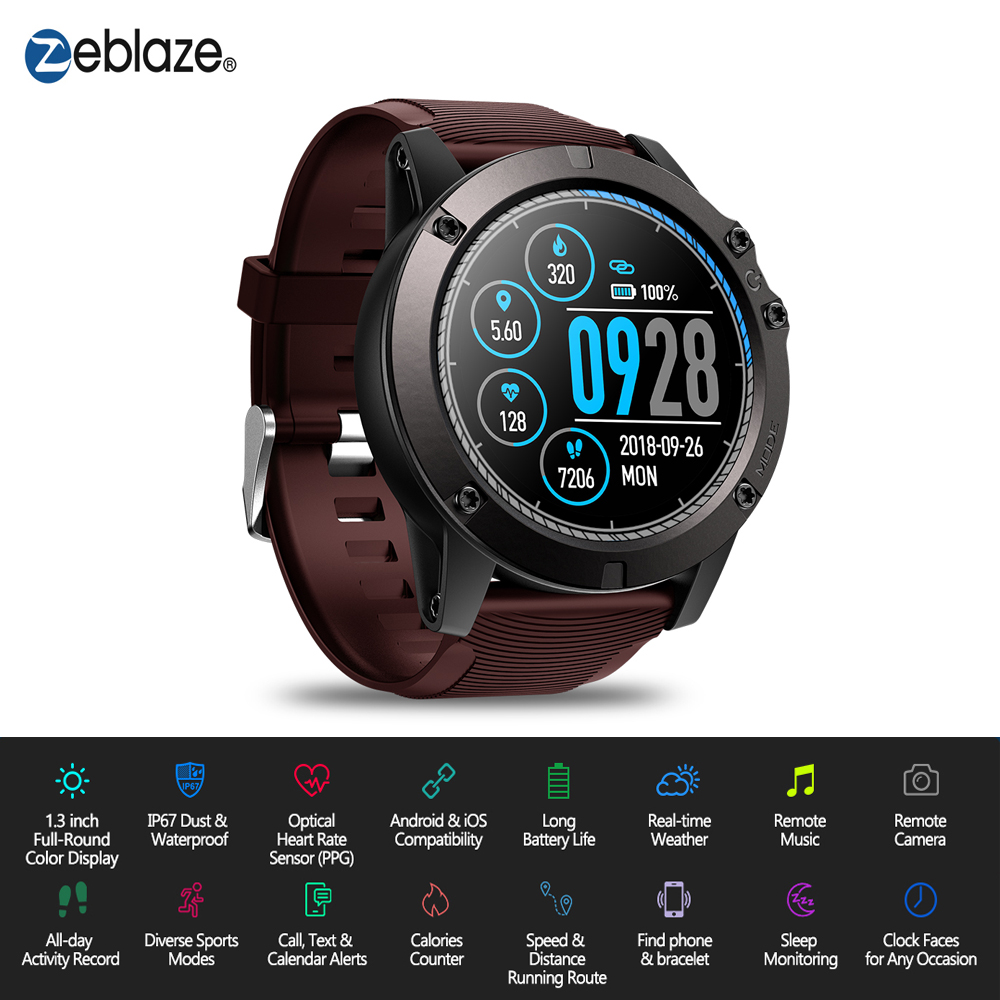 Zeblaze VIBE 3 PRO Color Touch Display Sports Smartwatch PPG Heart Rate Waterproof Weather Smart Watch Men For All Smart Phone