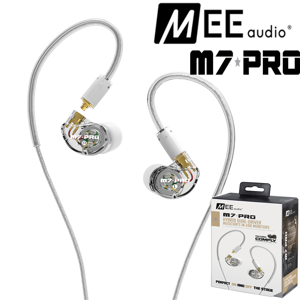 все цены на MEE Audio M7 PRO Universal-Fit Hybrid Dual-Driver DD+BA In-Ear Monitors With Detachable Cable HiFi Earphones Microphone онлайн