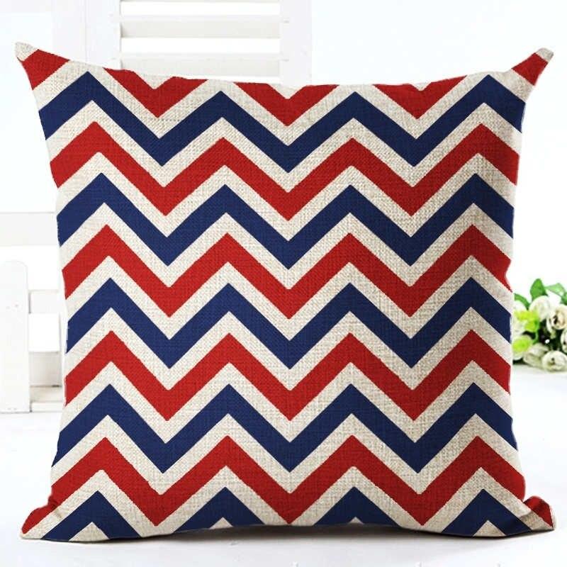 Geometric Pillowcase Moden Cotton Linen Printed Size 40 40 Home Deacrative Throw Pillows Cojines in Pillow Case from Home Garden