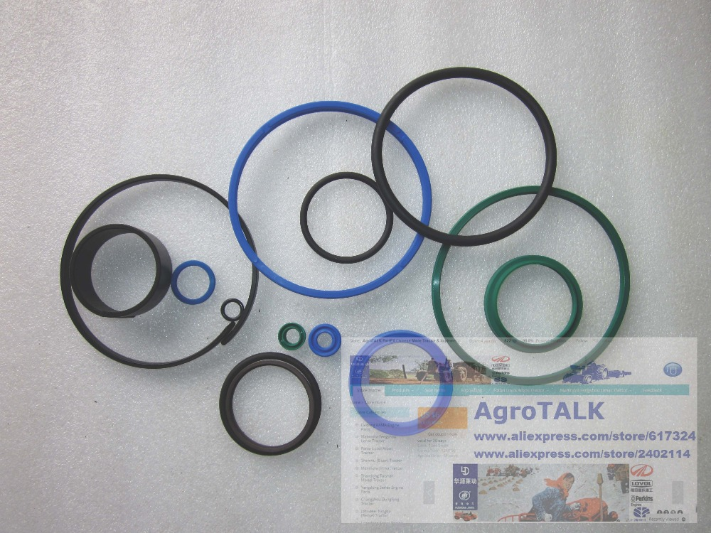 Foton tractor parts, the set of oil seals for hydraulic lift of tractor TG1204, part number: rubber seals for fluid and hydraulic systems