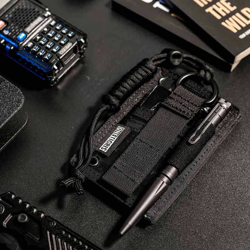 OneTigris Military Tactical Patch ID Card Holder Neck Lanyard W/ Key Ring And Credit Card Organizers 2pcs/lot