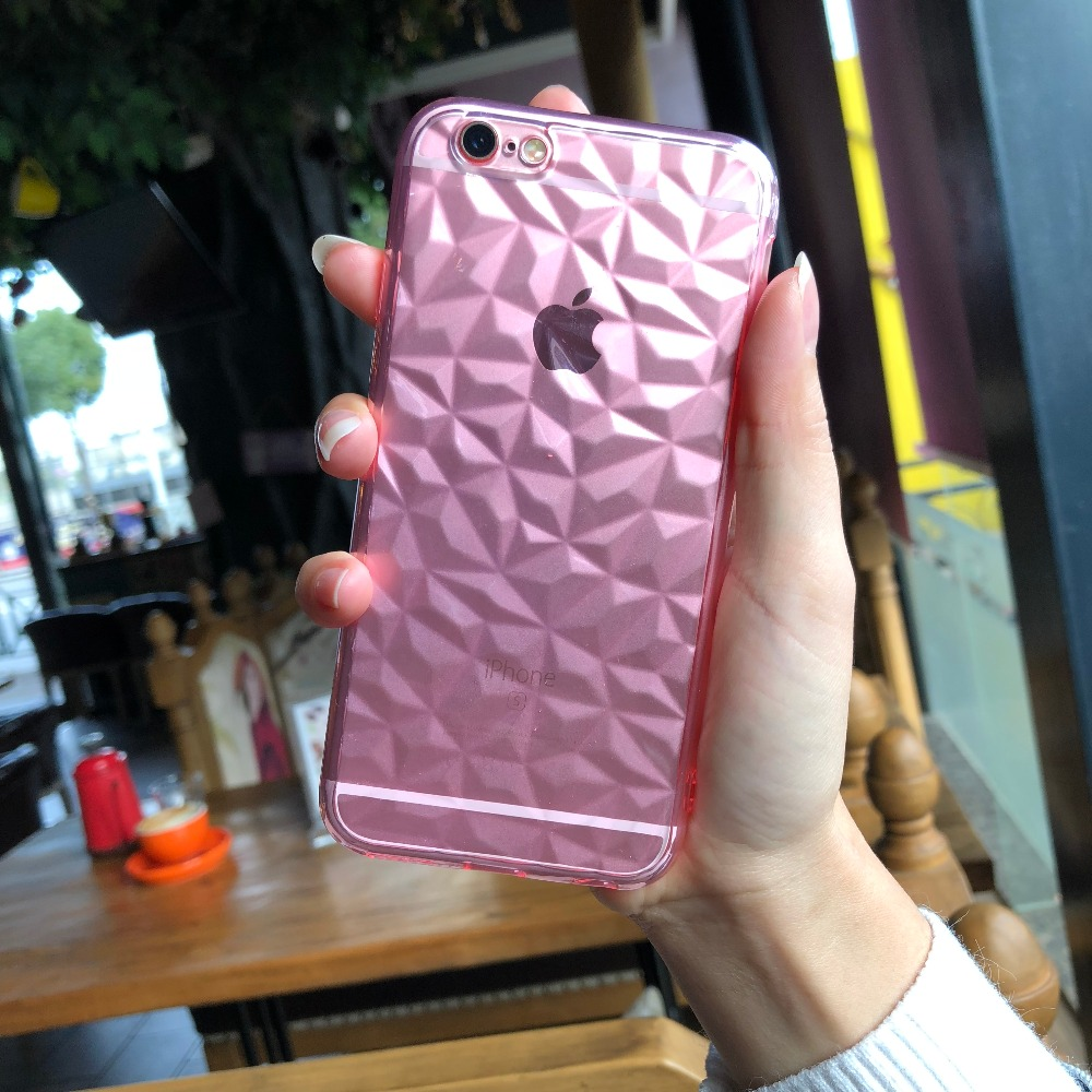 For Case iphone 7 8 Coque Silicone For iphone X 8 plus Luxury Phone Case Glossy Cover For Iphone 6 6s 5s se iphone accessories