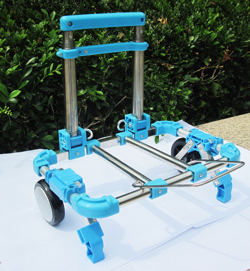 0 98KG Mini Folding Portable hand trolley Luggage Trailer Supermarket Shopping Trolley Travel Bag Stainless steel rod trucks in Casters from Home Improvement