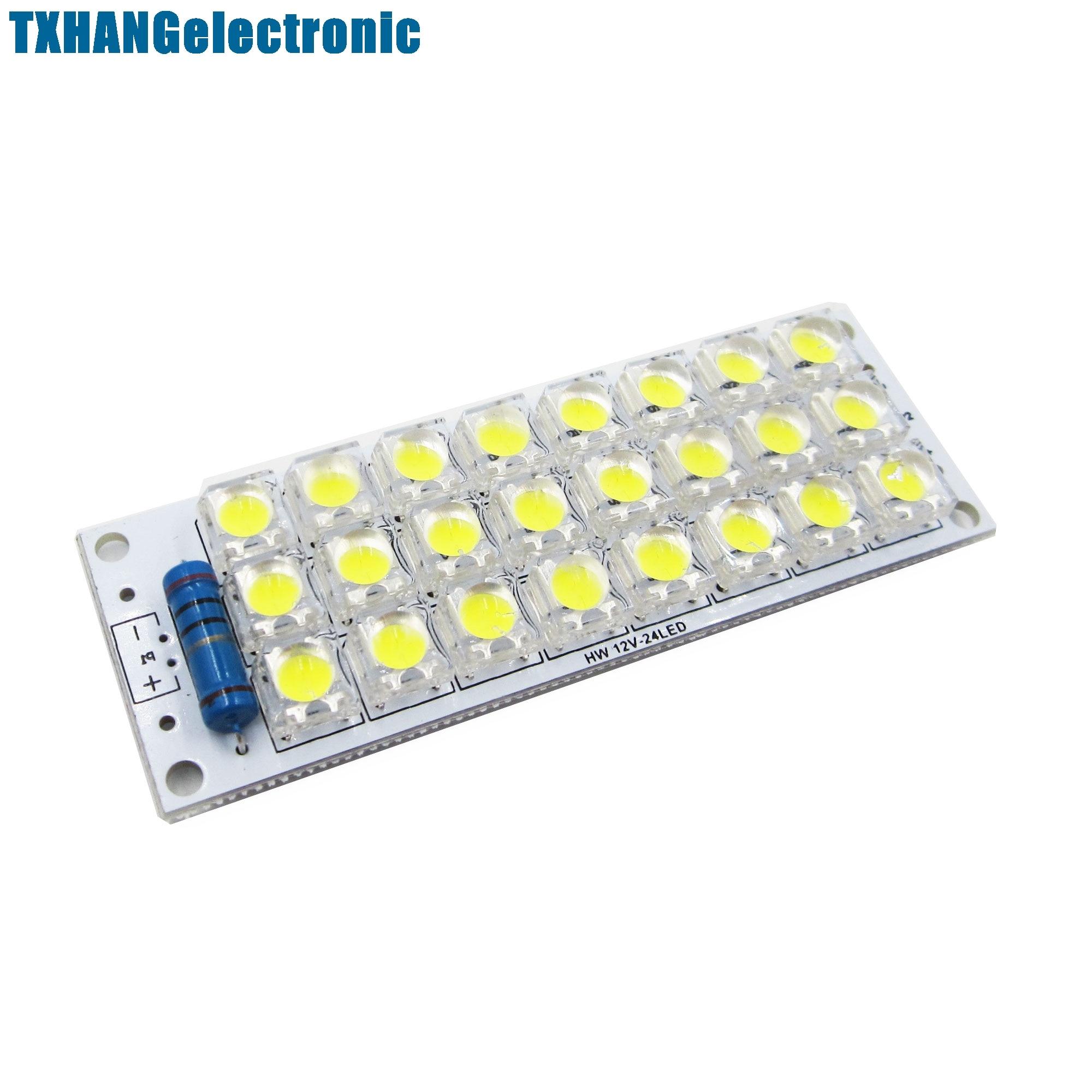 1PCS DC 12V 24-LED Super Bright White Piranha LED board Night LED Lights Lamp
