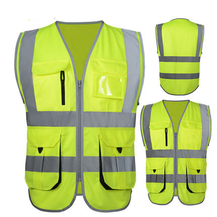 SFvest High visibility reflective vest workwear safety
