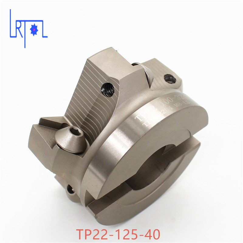TP22-125-40 90 Degree Right Angle Shoulder Face Mill Head CNC Milling Cutter,milling cutter tools,carbide Insert TPMN1603 new bt40 m16 fmb22 45l trs8r 63 22 4t face end mill 10pcs 8r rdmx1604motn carbide insert cnc milling lathe