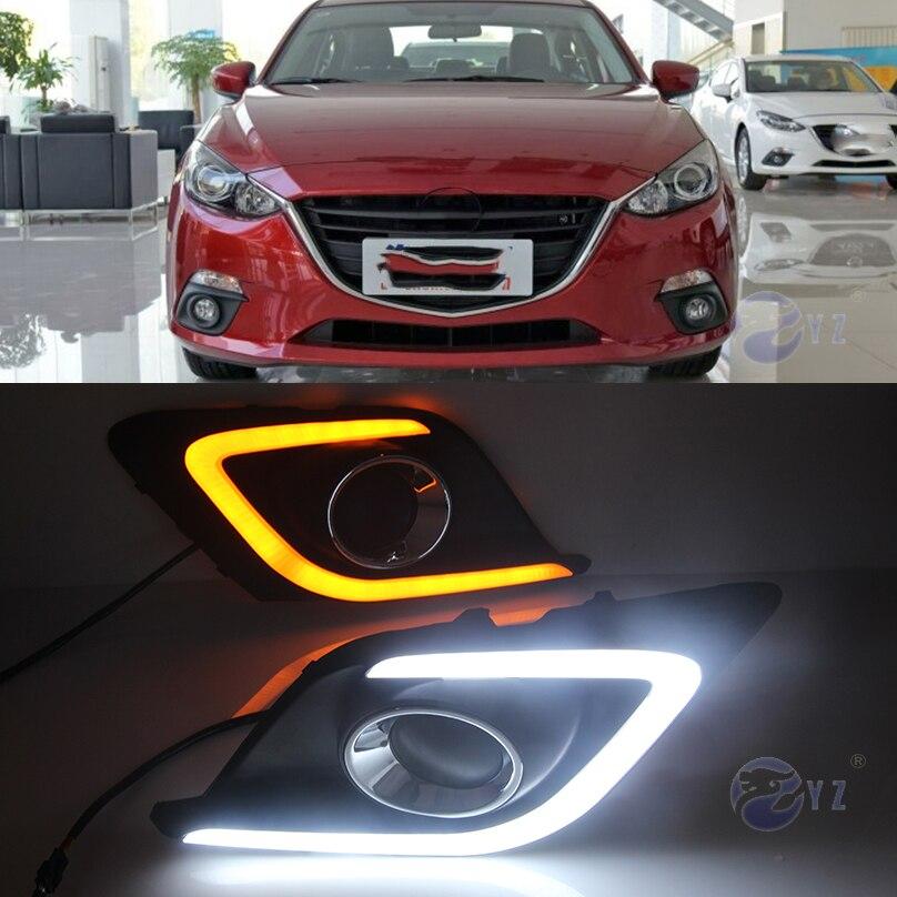 Car Flashing 2 Pcs DRL For Mazda 3 Mazda3 Axela 2014 2015 ...