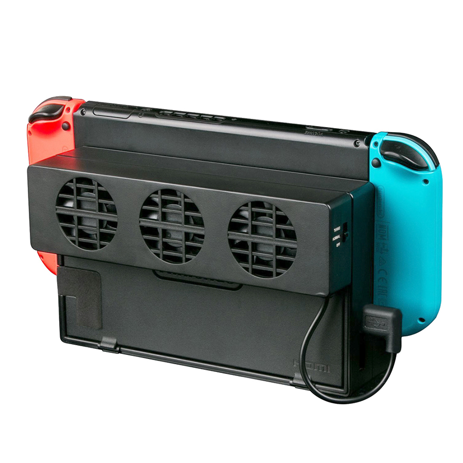 Interruptor do Ventilador de refrigeração para Nintendo NS Original Estande Doca Cooler com 3 Consola de jogos-Ventilador USB Ventilador de Refrigeração para nintend NS NX