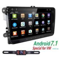 Car Radio 1GB+16GB For VW 9 Double 2 Din Android6.0 Car Multimedia Player GPS Navigation Player Car Audio Stereo Auto Head Unit