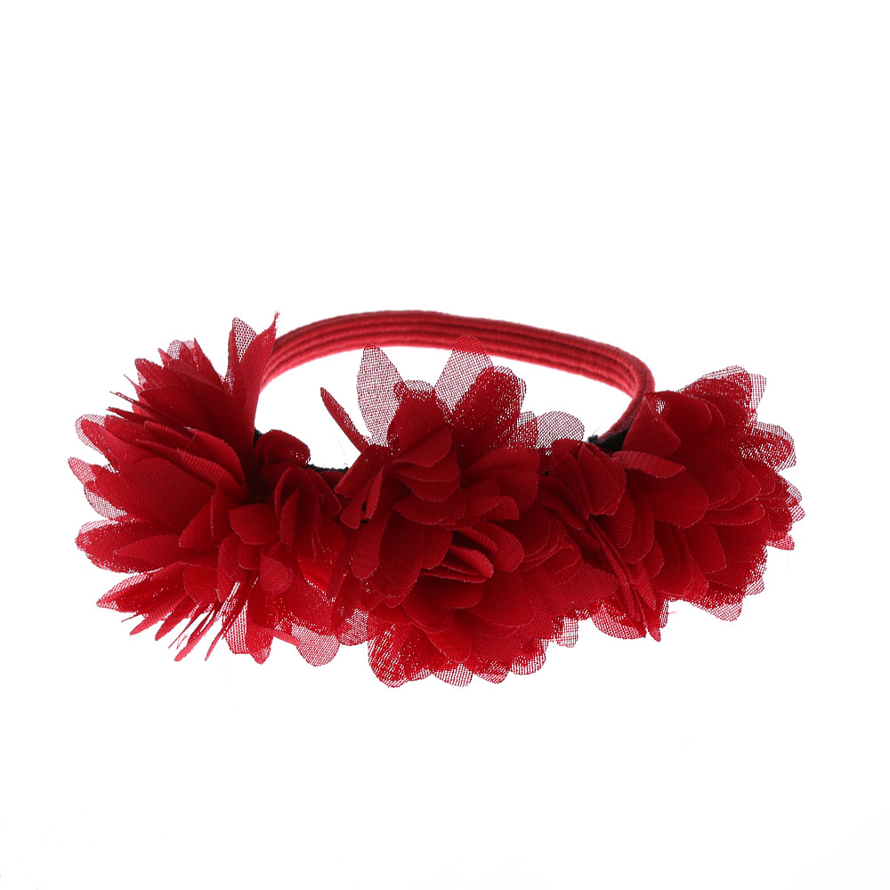1pc Hot Cute Fashion Princess Chiffon Flowers Girls Sweet Rubber Bands Barrettes Party Head Wear Hair Accessories Cheapest Price From Our Site Mother & Kids Accessories