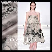 PRINT SILK ORGANZA SATIN FABRIC 14m M Width 53 135cm100 Pure Silk Fabric Organza Silk Dress