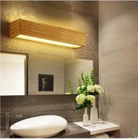 מודרני עץ קיר אורות חדר אמבטיה מראה מנורת מסדרון Wandlamp מיטת אור נורדי בית תאורת בציר פמוט קיר מנורה-במנורת קיר פנימית LED מתוך פנסים ותאורה באתר