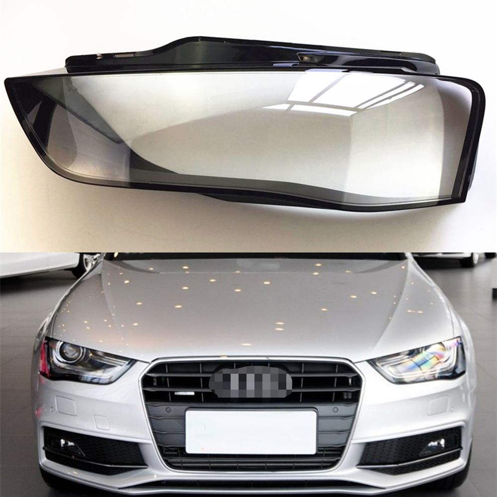 For Audi A4L 2013 2014 2015 Transparent Car Headlight Headlamp Clear Lens Front Auto Shell Cover