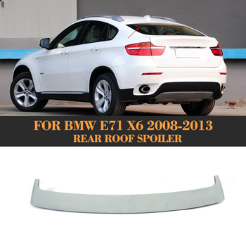 Car Rear roof Wing spoiler lip for BMW X6 E71 2008-2014 PU Primer image