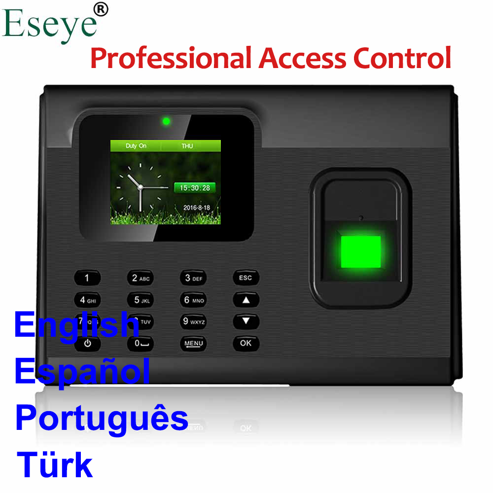 Biometric Fingerprint Time Attendance System USB Access Control Fingerprint Employee Time Clock Time Attendance Machine TCP IP