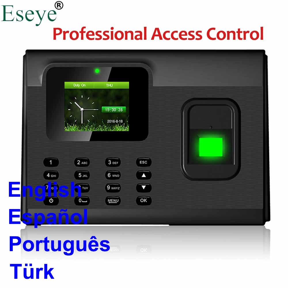 Biometric Fingerprint Time Attendance System USB Access Control Fingerprint Employee Time Clock Time Attendance Machine TCP IP