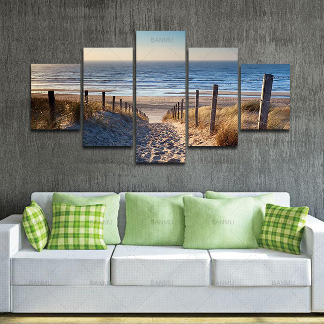 Canvas Prints wall art Wall Art Beach Unframed Ready to Hang 5 ...