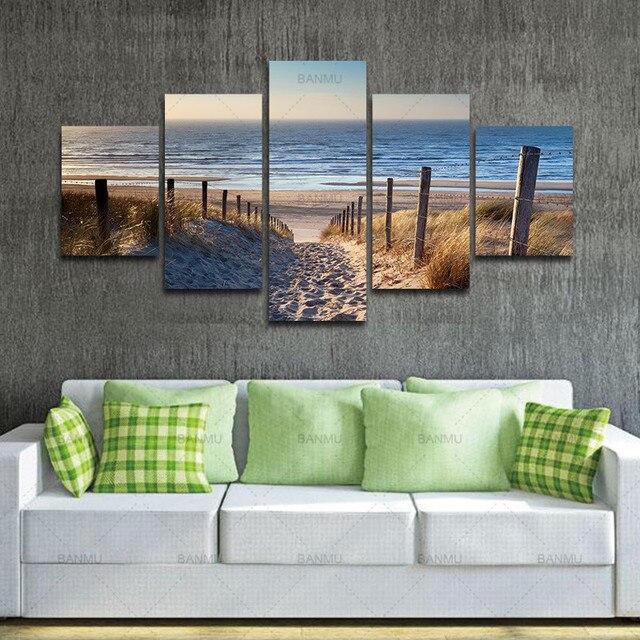 leinwand wandkunst kunst strand ungerahmt fertig zum. Black Bedroom Furniture Sets. Home Design Ideas