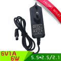 1pcs ac 100-240V dc 6V 1A switching Power Adapter  EU plug power supply charger
