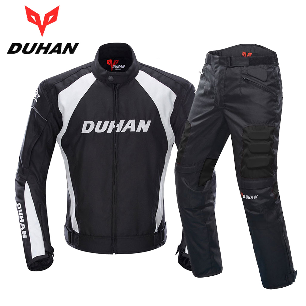DUHAN Motorcycle Jacket Men Motocross Suits Jacket Pants Moto Jacket Protective Gear Armor Motorcycle Clothing Riding