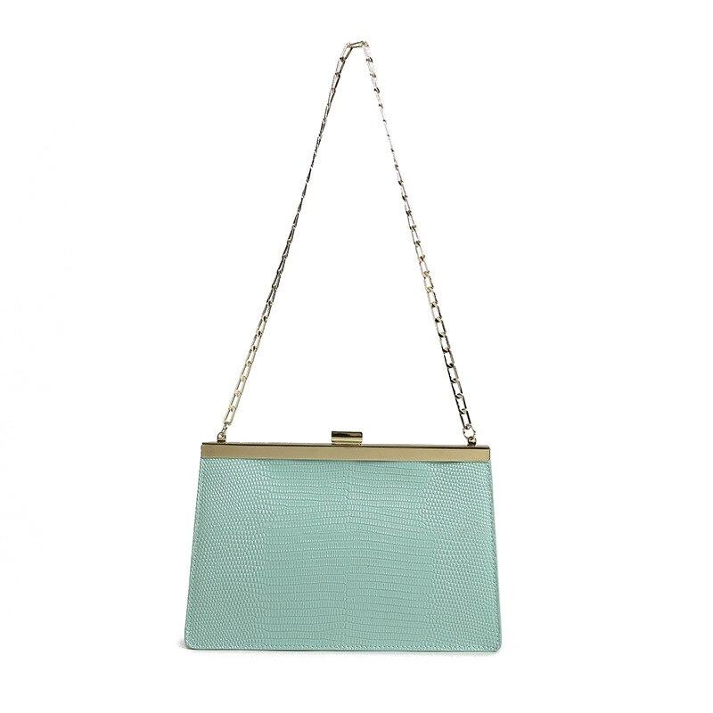 Luksusowe marki torebka kobiety wysokiej jakości prawdziwej skóry torba na ramię łańcucha torba wieczór Clutch Bag 2019 w Torebki na ramię od Bagaże i torby na  Grupa 2