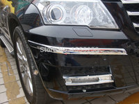 Auto Front Bumper Protecting Sticker For Mercedes Benz GLK 300 2011 ABS Chrome Auto Exterior Accessories