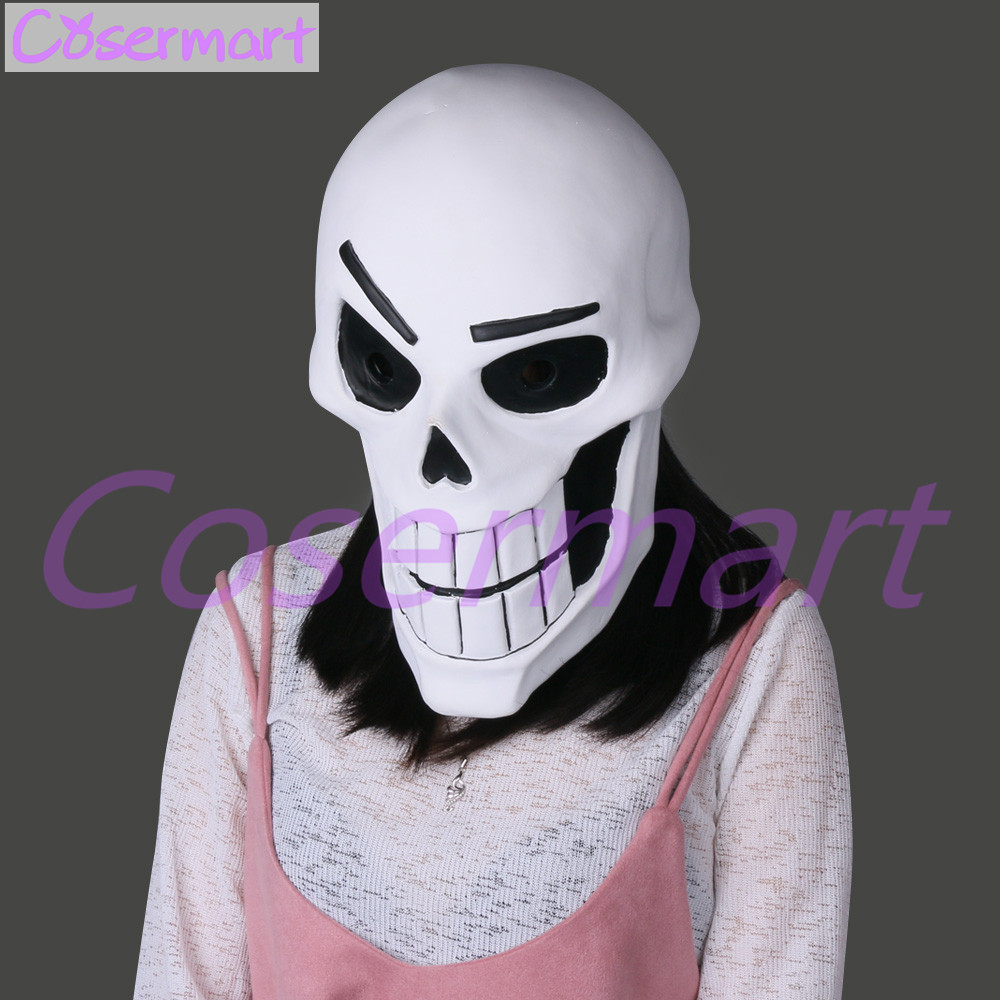 Hot Game Undertale Mask Hard Latex Cosplay Papyrus helmet Full Head Masks Halloween Party Prop (8)