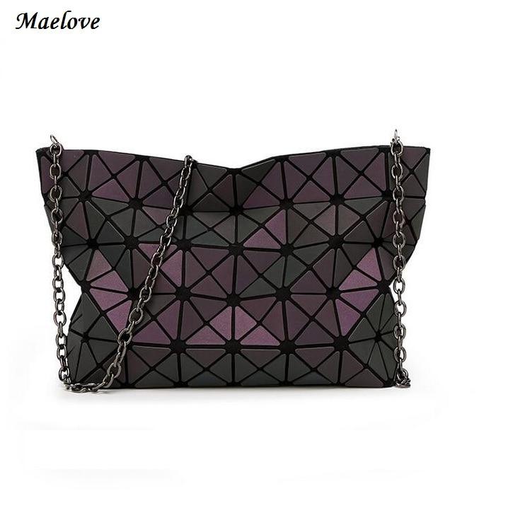 Maelove New Women bag Geometry casual handbag shoulder bag Hologram clutch baobao bag famous logo inside
