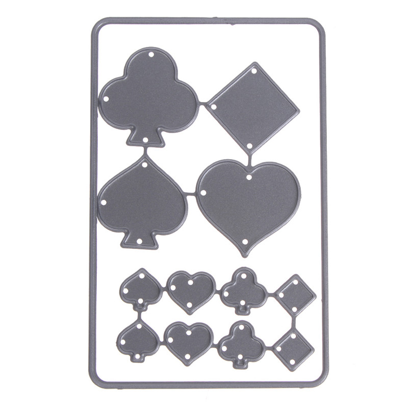 1PC Poker Card Shape Cutting Dies Metal Scrapbooking Stamping Cutting Dies Wedding Birthday Party Gift Craft