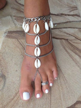 Ethnic Vintage Carving Coin Pendnats Anklets Women New Fashion Charm Antique Silver Plated Anklets for Women Foot Chain Jewelry