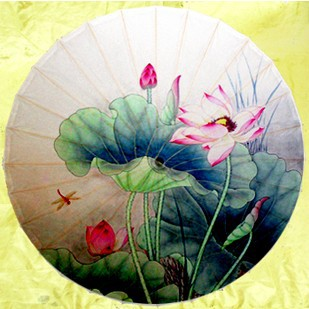 Free shipping Luzhou Lotus pond beauty oiled paper umbrella waterproof and anti-UV handmade women rain oiled paper umbrella