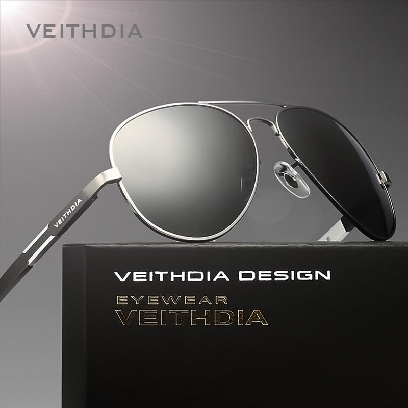 a909e76679 Original Famous Brand veithdia 6695 Polarized UV400 Sunglasses Men Luxury  Aluminum Magnesium Glasses For Driver Sport Anti-glare