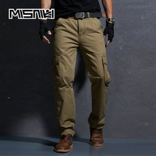 MISNIKI Brand 2018 New Military Cargo Pants Men Cotton Casual Workout Solid Tactical Men Trousers Overalls