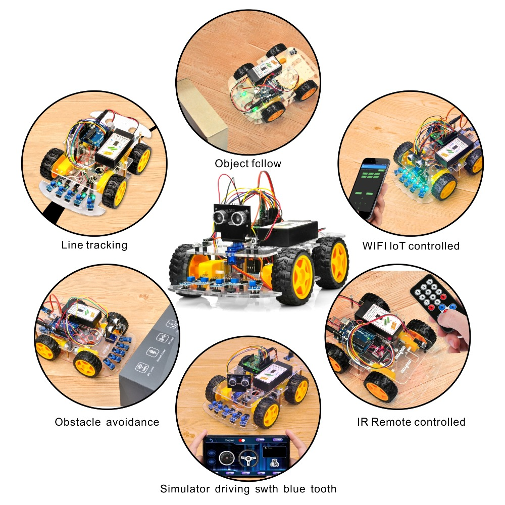 OSOYOO 4WD Robot Car Starter Kit V2 0 for Arduino UNO Smart Project APP  Simulator driving STEM Toys Gifts for Kids Teens