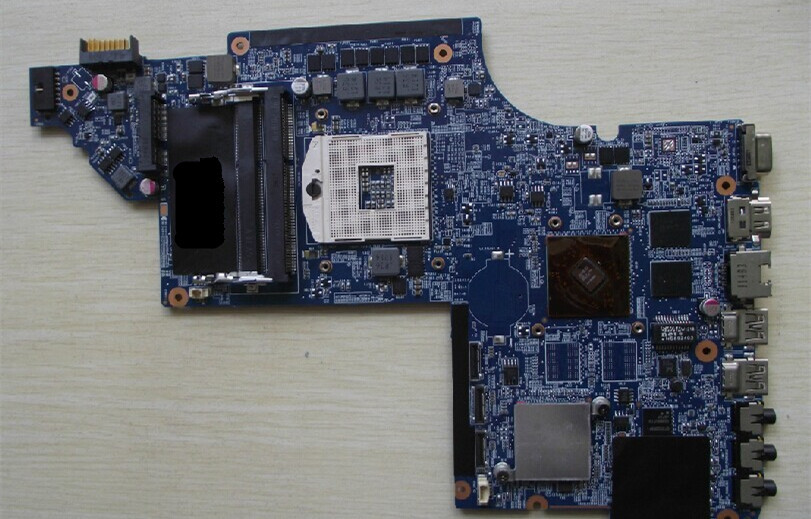 Free shipping  ! 100% tested 639389-001 board for HP pavilion DV7 DV7T DV7T-6000 laptop motherboard 511864 001 board for hp pavilion dv6 laptop motherboard with for intel chipset free shipping
