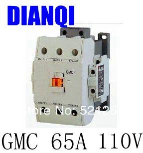 CONTACTOR AC GMC GMC-65 65a 110v 50/60hz high quality цена и фото