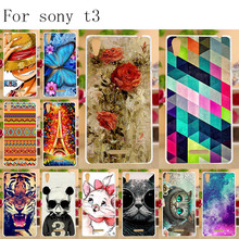 Anunob Soft TPU Phone Case For Sony Xperia T3 Cases Silicone DIY Painted Back Cover Covers D5103 Fundas Capa Bumper