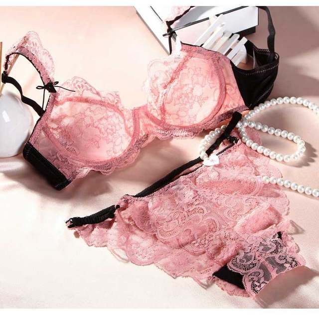 cb5a927694c7d European And American Brands Summer Slim No Pad Bra Sexy Lingerie Sexy Lace  Bra Set