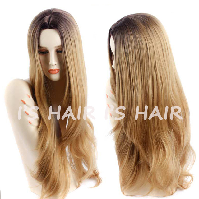 Synthetic Wigs for Black Women Long Curly Synthetic Wigs Blonde Ombre Hair Fashion Synthetic Natural Hair Wig Heat Resistant