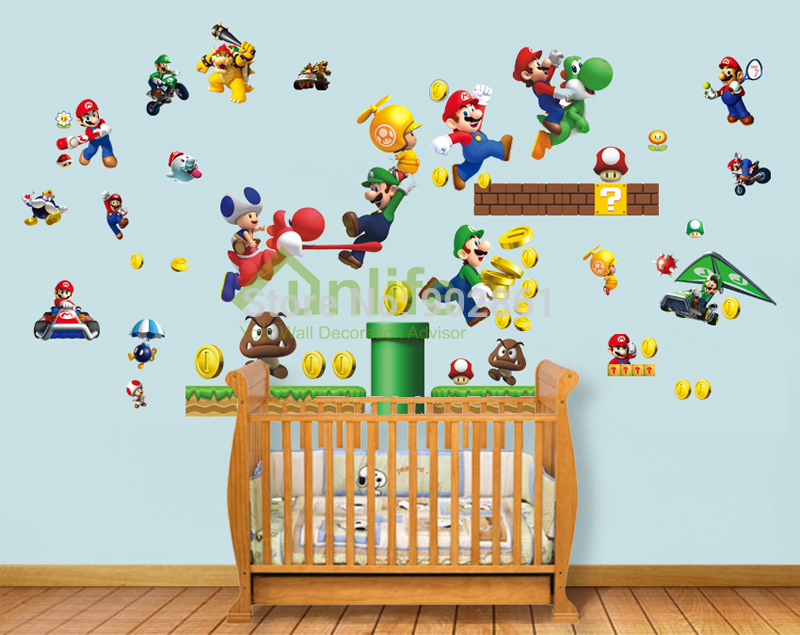 Beautiful Funlife Exclusive Super Mario Bros Big Combo Retro Games Wall Sticker  Decorative Decals Mural For Boy Bedroom In Wall Stickers From Home U0026 Garden  On ... Part 17