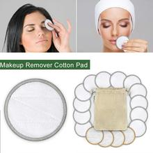 Cotton Rounds Reusable Chemical Free Pad Washable Makeup Remover for Sensitive Skin Daily Cosmetics