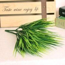 Artificial Grass Green Plants Plastic Flowers Imitation Leaves Plant for Home Wedding Decoration Arrangement