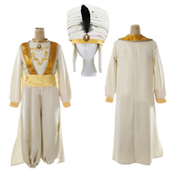 Aladdin Lamp Prince Aladdin Costume outfit For Adult Man Halloween Party Movie Cosplay Costume