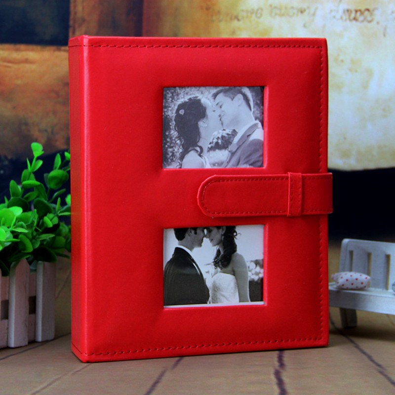 Boxed Photo Albums: 6 Inches 4R PU Cover DIY Gift Box Photo Album 4 Colors DIY