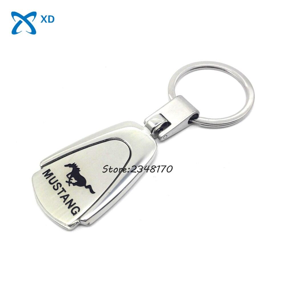 Ford Mustang Keychain Car Accessories Key Ring 3D Car Logo Keychain Key Chain ...