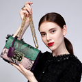 Genuine leather bag ladies 2017 serpentine pattern Women messenger bags handbags women famous brand designer high quality Bag