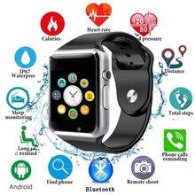 2019 Bluetooth A1 Smart Watch Sport Waterproof Wristwatch Support 2G SIM TF Camera Smartwatch For Android Phone PK GT08 DZ09 Q18