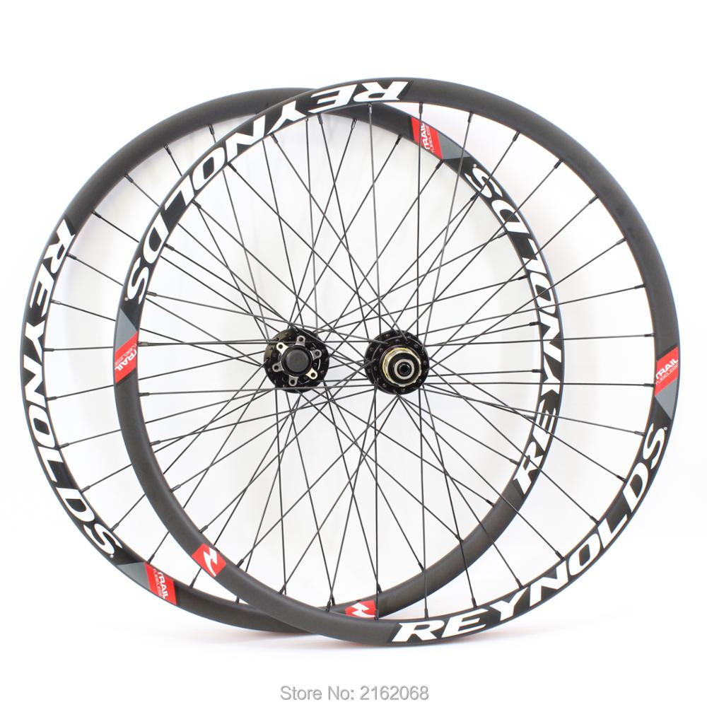 Brand New 26/27.5/29er Mountain bike matt UD full carbon fibre bicycle disc brake MTB wheelset carbon clincher rim Free shipping